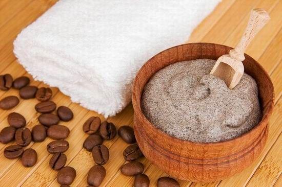 скраб і зерна кави