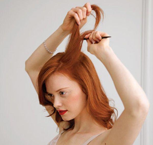 Робимо начісування і підбираємо зачіску