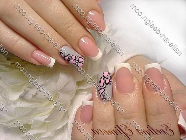 Модний манікюр і арт-дизайн нігтів 2016. Нарощування нігтів біогелем, кольорові біогелі.Французскій манікюр або «френч» відрізняється не тільки особливої