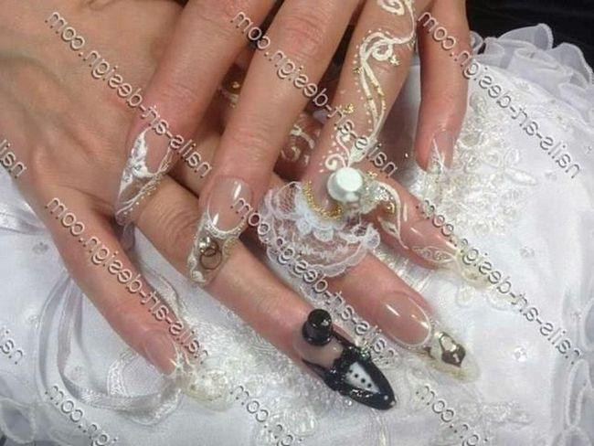 Кольоровість на нігтях. Відмінний вибір весільного манікюру зробити нігті