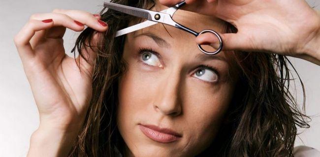 Як підстригти чубчик на бік