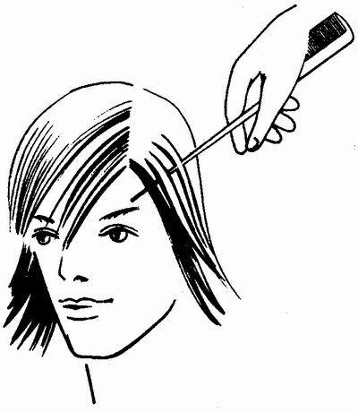 Мелірування волосся на чубку