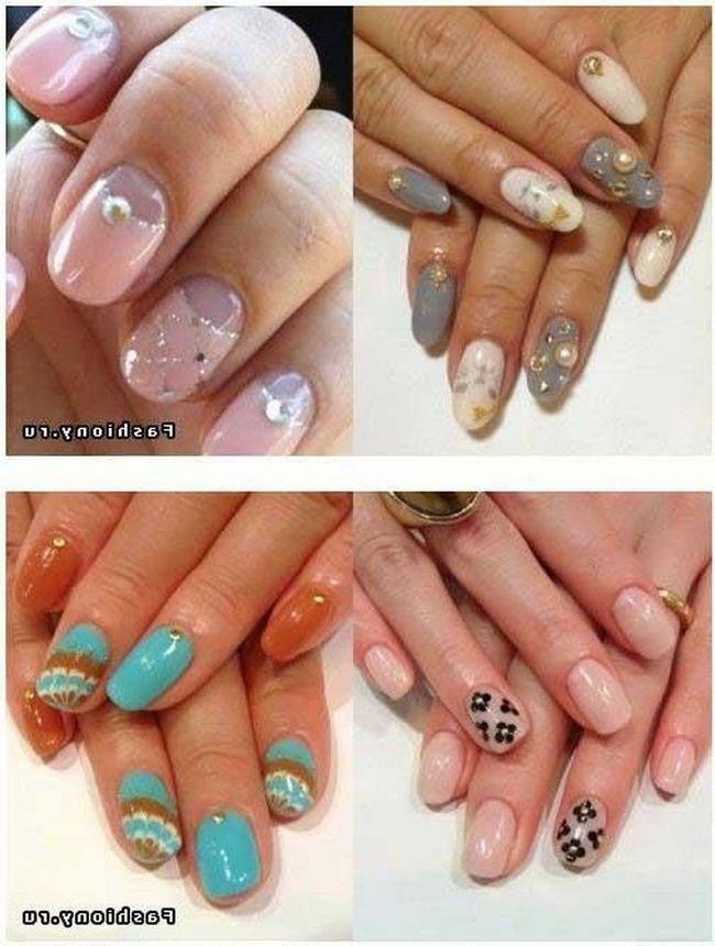 Нижче наведені 16 варіантів дизайну нігтів зі сніжинками. У деяких випадках використовуються наклейки сніжинки, а в інших сніжинки малюються на нігтях.