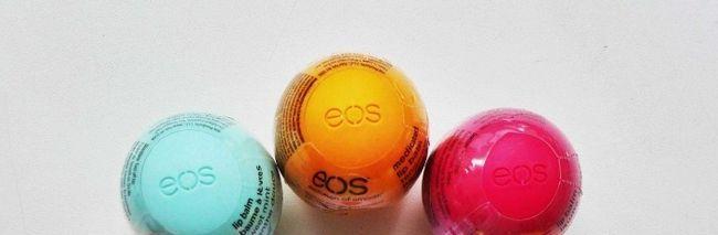 Огляд бальзамів для губ від фірми eos