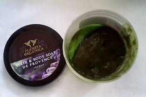 Густе прованську мило Planeta Organica текстура
