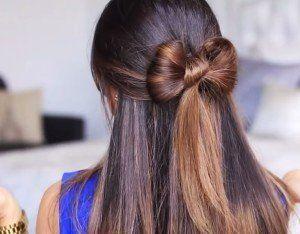 Зачіска бантик з волосся, покрокова інструкція - фото