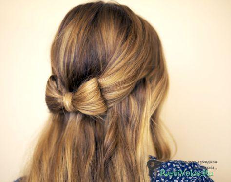 Зачіска з бантом з волосся