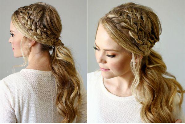 Зачіски на довге волосся з плетінням