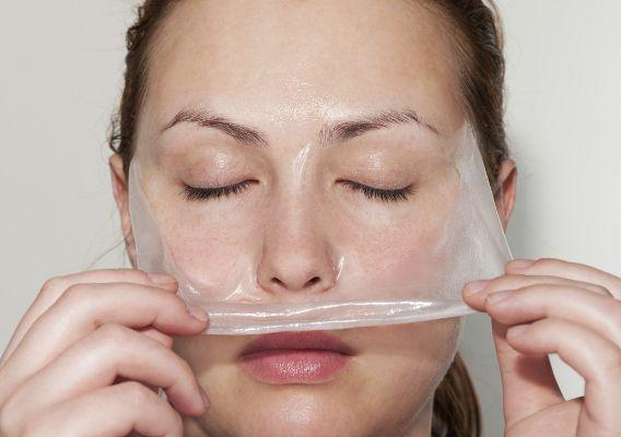 як знімати желатинову маску